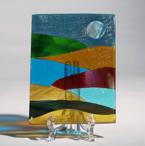 Abstract Fused Glass Panel