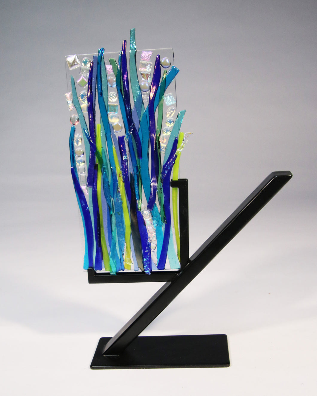 Small Flowing Sea Grass Fused Glass Panel