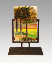 Load image into Gallery viewer, A Stroll in the Country Fused Glass Panel
