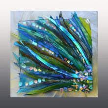 Load image into Gallery viewer, Floating Sea Grass Fused Glass Mounted  Panel