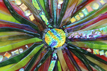 Load image into Gallery viewer, Colorful Starburst Fused Glass Panel