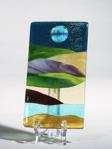 Small Abstract Fused Glass Panel II