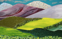 Load image into Gallery viewer, Dichroic Mountains  Fused Glass Panel