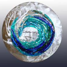 Load image into Gallery viewer, Crashing Wave Fused Glass Mounted Panel
