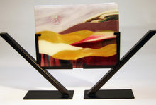 Load image into Gallery viewer, Purple and Gold Fused Glass Panel