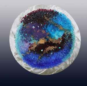 Deep in Outer Space Fused Glass Mounted  Panel