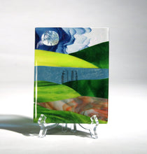 Load image into Gallery viewer, Rolling Hills Fused Glass Panel