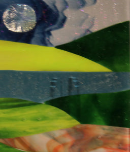 Rolling Hills Fused Glass Panel