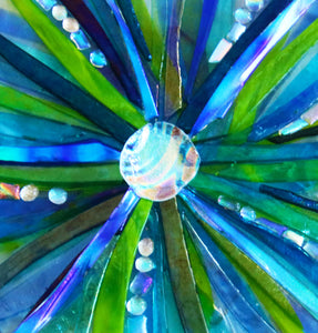 Starburst Fused Glass Mounted Panel