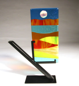 Small Abstract Fused Glass Panel