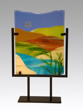 Load image into Gallery viewer, Spring Day in the Country Fused Glass Panel.