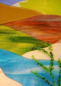Spring Day in the Country Fused Glass Panel.