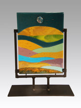 Load image into Gallery viewer, Abstract Landscape Fused Glass Panel