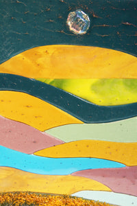 Abstract Landscape Fused Glass Panel