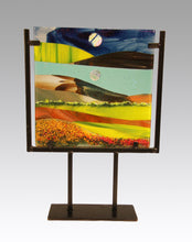 Load image into Gallery viewer, Life in the Country Fused Glass Panel.