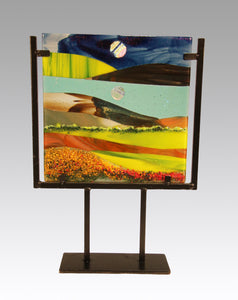 Life in the Country Fused Glass Panel.