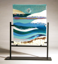 Load image into Gallery viewer, A  Day at the Ocean Fused Glass Panel