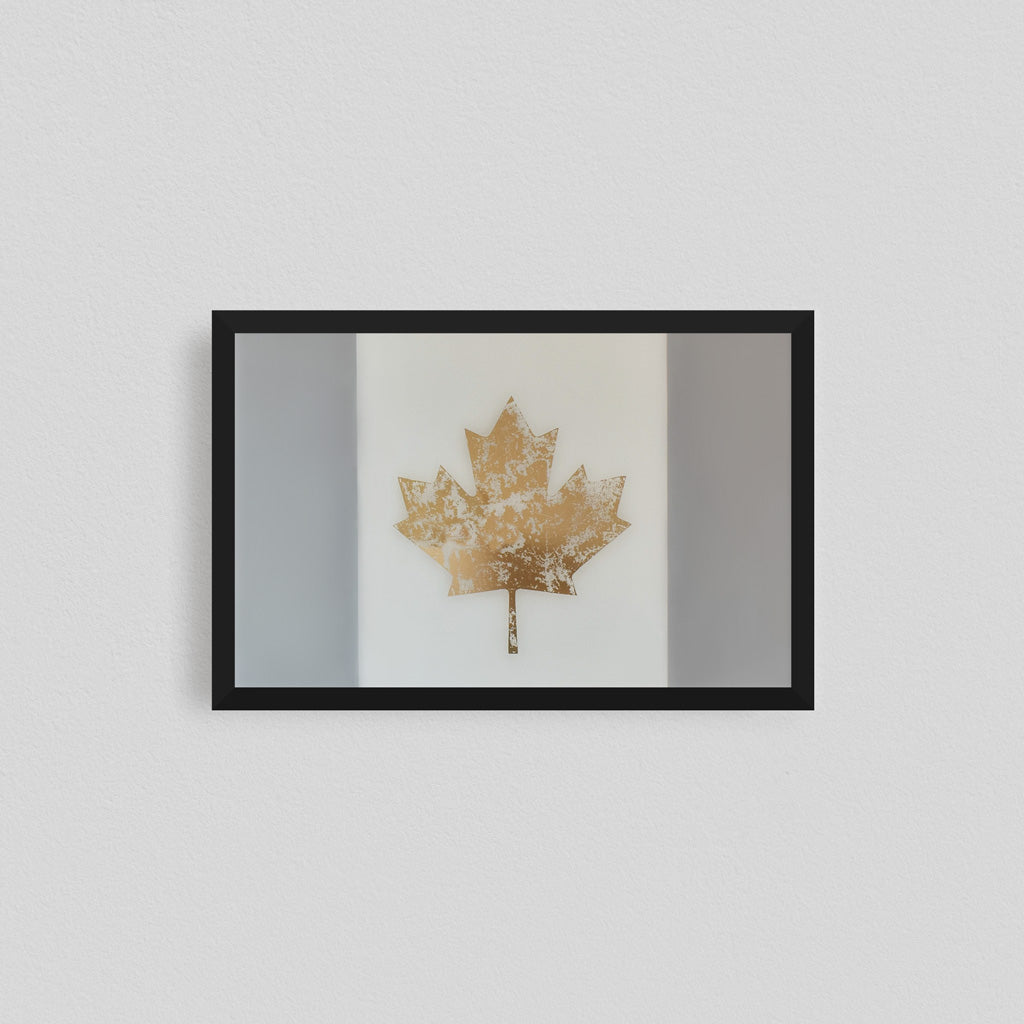Canadian Flag Gilded Glass Original Artwork