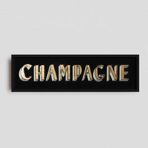 """Champagne"" Gilded Glass Original Artwork"