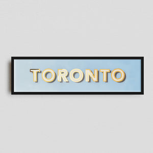 """Toronto"" Gilded Glass Original Artwork"