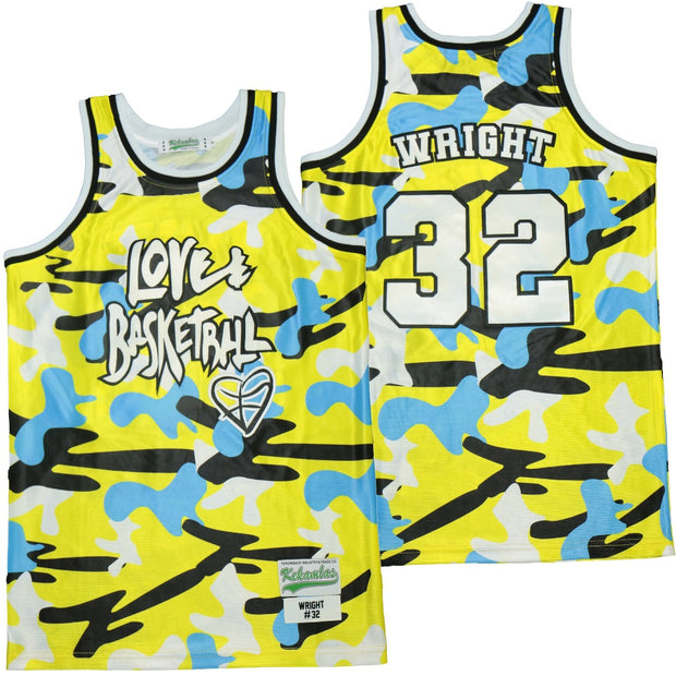 Monica Wright Love and Basketball Camo Jersey