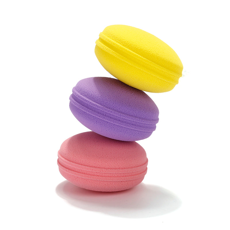 Miss Gorgeous Macaron Style Puff(yellow/purple/pink)