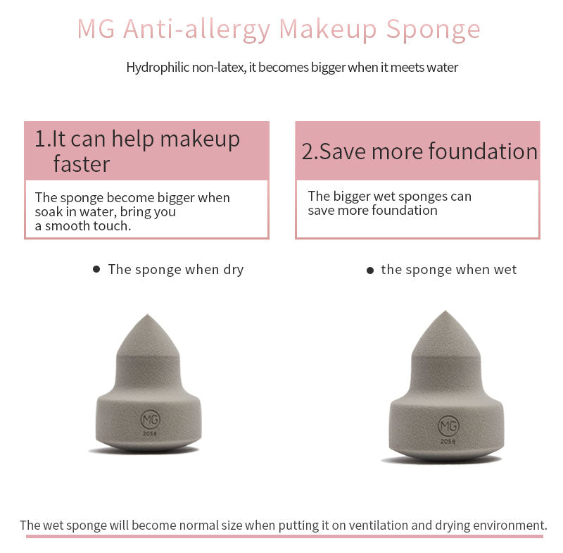 Miss Gorgeous  Stamp-shape Anti-allergic gray sponge