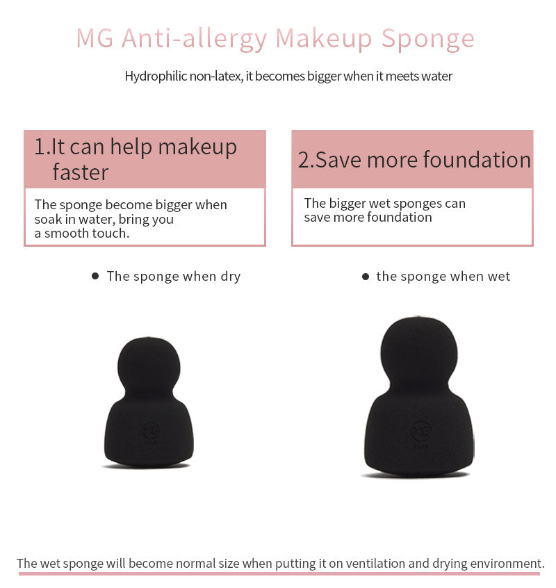 Miss Gorgeous anti-allergy single black round sponge