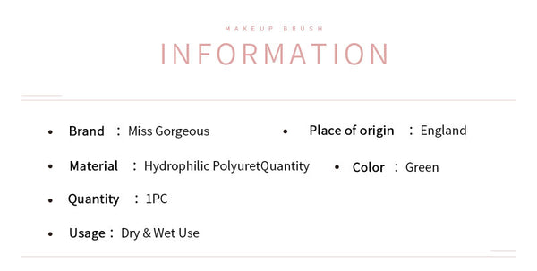 Miss Gorgeous anti-allergy green pointed makeup remover