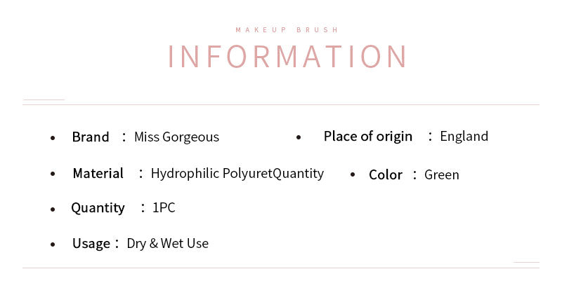 Miss Gorgeous Stamp-shape Anti-allergic green makeup remover