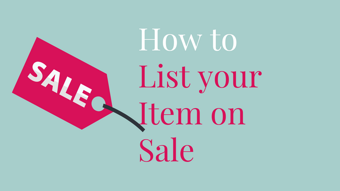 How to List your Product on Sale