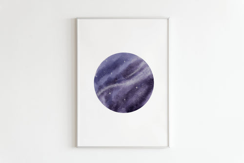 Galaxy Room Print , Wall Art, Kids Bedroom Art