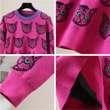 Load image into Gallery viewer, The Hot Pink Cat Sweater