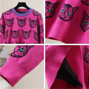 The Hot Pink Cat Sweater