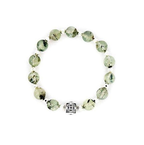 The Wood Element Prehnite Stretch Bracelet