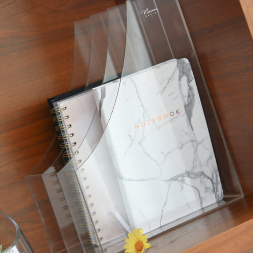 Acrylic 3 slots file holder