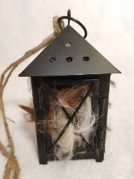 Bird Nester Lantern filled with Alpaca Fleece