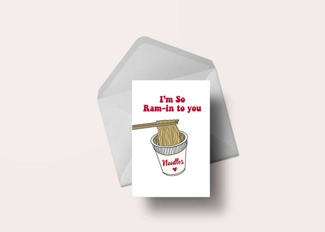 I'm So Ram-In To You | Valentine's Day Card
