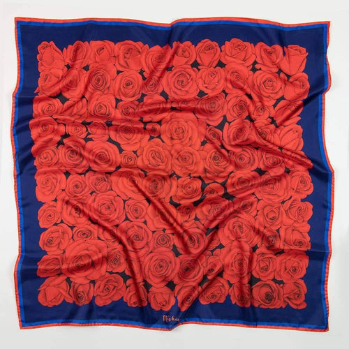 100 Red Roses Silk Twill Scarf