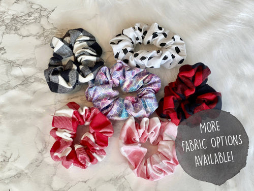 Cotton and Flannel Scrunchies