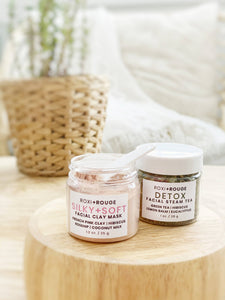 SILKY+SOFT (French Pink) Clay Mask + Detox Steam Tea (Face Pack)