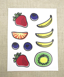 Fruits Iron on Decals