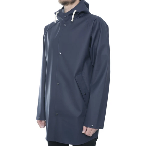 Elka - Blue Hooded Raincoat