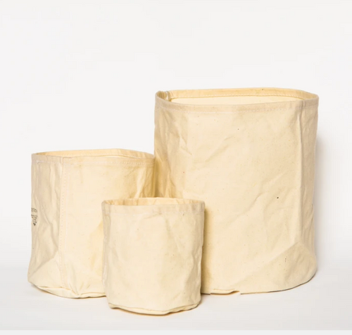 Puebco - Small Waxed Canvas Pot Cover - Off White