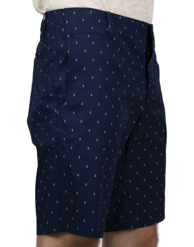 Slim Short - Navy Anchors