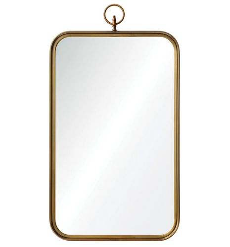 Coburg Mirror with Brass Finish