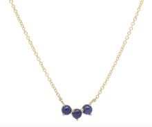 Load image into Gallery viewer, Trio Crescent Necklace