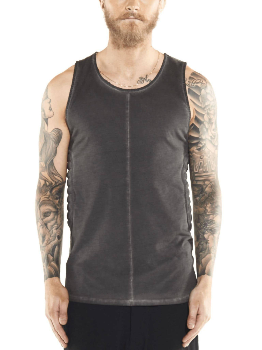 Charlie quilted tank in graphite grey