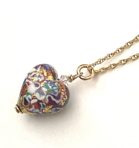 Red Gold Heart Necklace