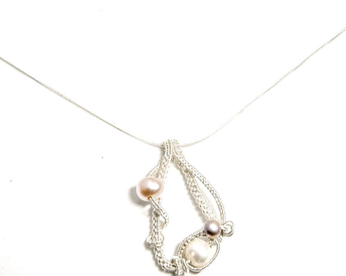 Fresh Water Pearl and Fine Silver Pendant
